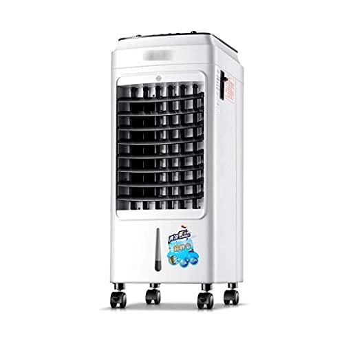 SHKUU Aire Acondicionado Móvil Evaporativo Doble Tanque Agua Ventilador Aire Acondicionado Control Remoto, Acondicionador Refrigeración Móvil 3 Velocidades Calentador