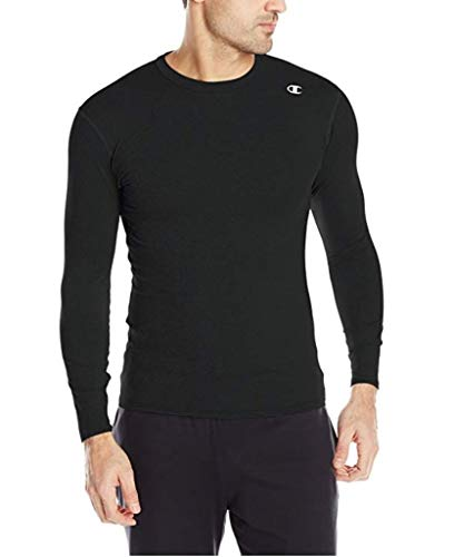 Champion Men's Double Dry Long Sleeve Compression Shirt, Black, 3X-Large