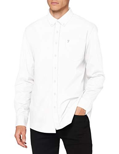 FARAH® Herren Patterson Shirt Hemd, 104 Weiß, XL