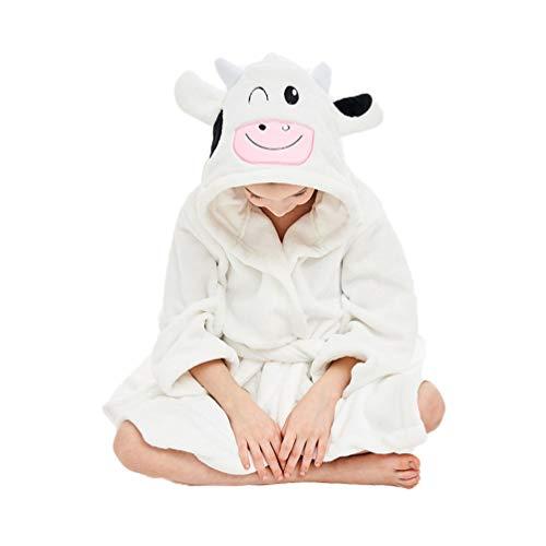YUYAXPB kinderbadhanddoeken met capuchon, leuke koe badjas flanel, poncho wisselende robe voor meisjes en jongens, voor 0-8 jaar oud
