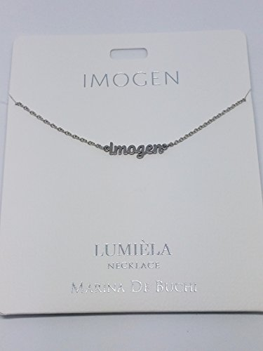Imogen Named Lumeila Necklace Marina De Buchi Silver Colour Presented by Sterling Effectz