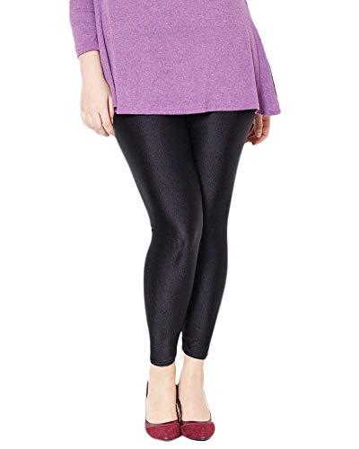 HaiDean vrouwen legging hoge taille panty leer imitatie eenvoudige glamoureuze broek stretch effen kleur Slim fit potlood broek broek