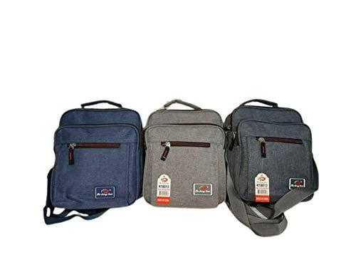 Unisex Canvas Utility Work Travel Bag Messenger Waterproof Satchel Shoulder Bag (Grey)