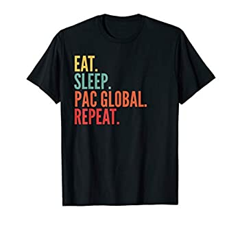 Pac Global Crypto Eat Sleep Pac Global Repeat T-Shirt
