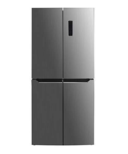 Frigorifero combinato 4 porte, DF4-48NV3XF0, kitchen slim (profondo 60 cm), classe F, total inox, total no frost, display LCD