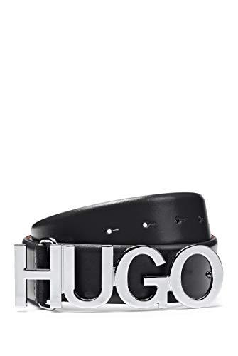 HUGO Zula Belt 2 cm Cinturón, Negro1, 85 para Mujer