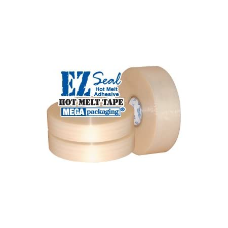 Clear Hotmelt Machine Packaging Packing Tape 1.8 Mil 2 Inch x 1000 Yard 24 Rolls
