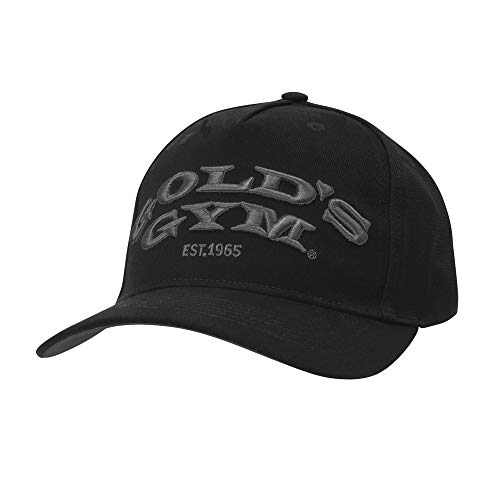 Golds Gym Gold's Gym Gghat096 Embroidered Text Curved Peak Cap, Black, One Size Gorra de béisbol, Unisex Adulto