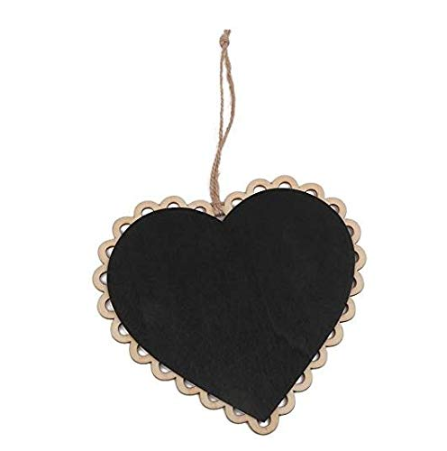 Ndier lavagna bacheca in messaggio corda Legno Forma CUORE per decorazione della casa nozze