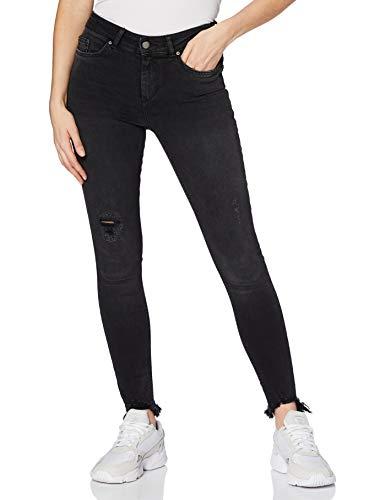 PIECES Damen PCDELLY DLX MW B247 Stay NOOS Skinny Jeans, Schwarz (Black Black), 27W / 32L