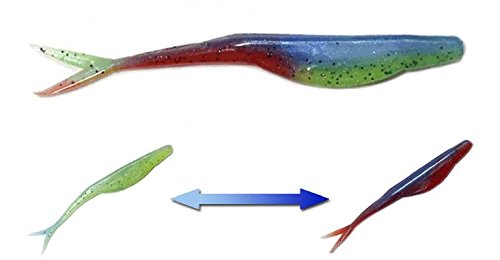 Softbait Fishing Lures Patented Color Changing Baits to Improve Catching for All Species (8 Pack Might Minnow)