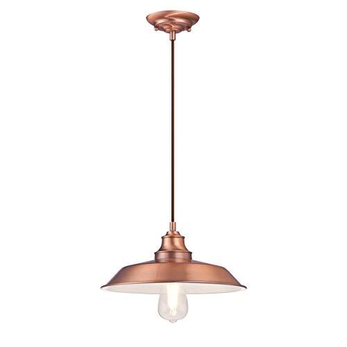 Westinghouse Lighting 63705 – Lampada a sospensione da interno Iron Hill a una luce, finitura in rame lavato
