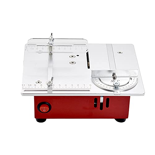 T30 Mini Multifunctional Table-Saw Electric Desktop Saws Small Household DIY Cutting Tool Woodworking Lathe Machine with 0-14mm Sawblade Lifting Height