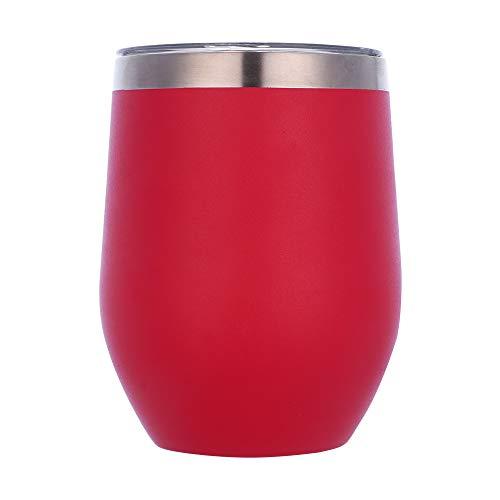 Gteller Vaso de vino de acero inoxidable de 12 onzas sin tallo...