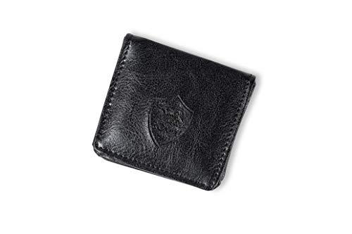 AS Roma Geldbörse mit Logo Ton aus Pu Münzgeldbörse, Schwarz, Einheitsgröße