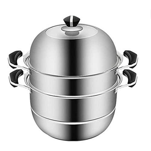 HHTD Vaporizador de Acero Inoxidable Steamer Hogar Sopa Engrosada Pote Adecuado para restaurantes de Cocina para el hogar y Otros Lugares