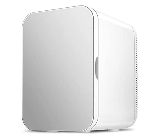 Mini Refrigerador De 20 litros/Portátil con Sistema Termoeléctrico De CA/CC, Enfriador Y Calentador para Automóviles, Hogares, Oficinas Y Dormitorios,Plata