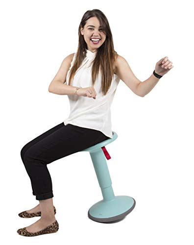 Stand Steady Active Motion Stool | Wobble While You Work! | Premium Ergonomic Stool/Ergonomic Office Chair for Comfort & Back Pain Relief - Made in Germany (Teal)