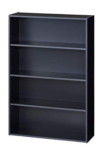 【BLKP】 パール金属 本棚 4段 限定 ブラック 幅60 × 奥行20 × 高さ89cm 可動棚 2枚付き マンガ 文庫本 収納 ラック BLKP 黒 N-7575