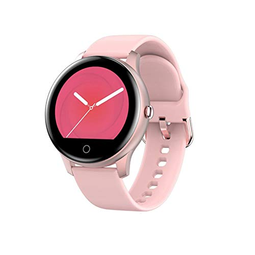 YDL Bluetooth Call Smart Watch Mujeres Hombres SmartWatch para Android iOS Electronics Smart Relk Silicone Strap Smart-Reloj Horario (Color : Pink)