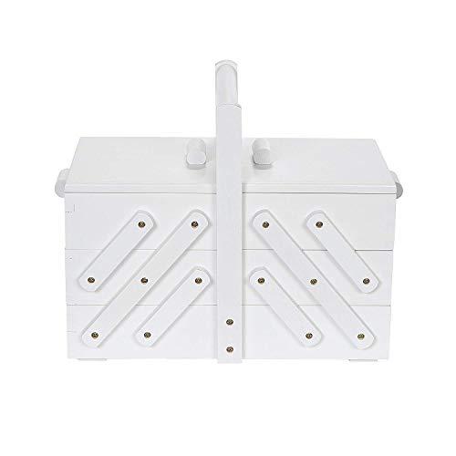 Prym 612580 Boîte à couture en bois M Blanc
