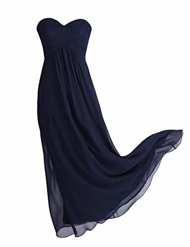 YiZYiF Elegant Damen Kleider Lange Abendkleid Festliche Hochzeit Party Herzausschnitt Cocktailkleid...