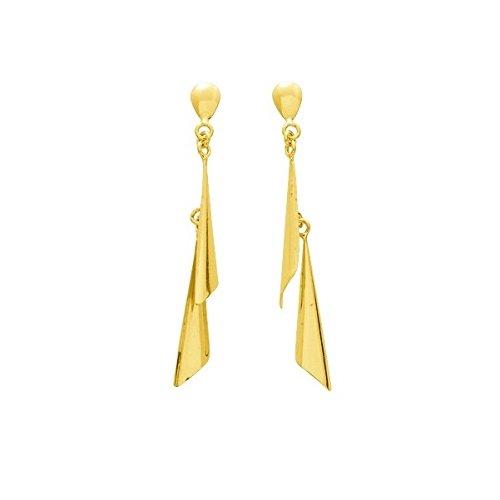 Schirin–Ohrhänger–Gelbgold 18carat–Systeme Kinderwagen–www.diamants-perles.com