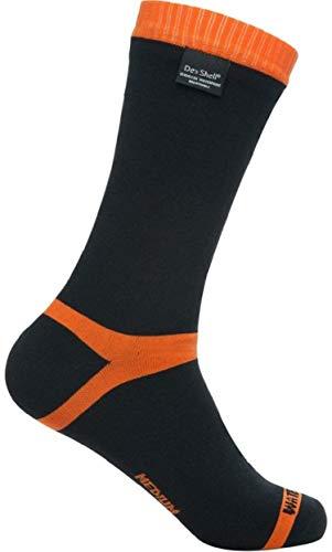 DexShell Waterproof Hytherm PRO Socks, Tangelo Red, Mid Calf, M