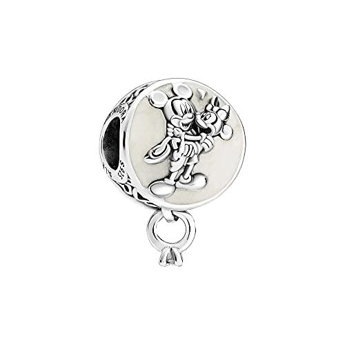 Pandora, Disney 799395C01 - Colgante de plata de ley con diseño de Mickey Mouse y Minnie Mouse