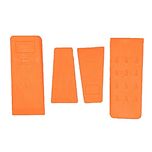 Die GarMills Fällkeile Stachelschlagwerkzeuge für Kettensäge Baumstammschnitt 4er-Set mit 2 x 13,5cm und 2 x 20,5cm.