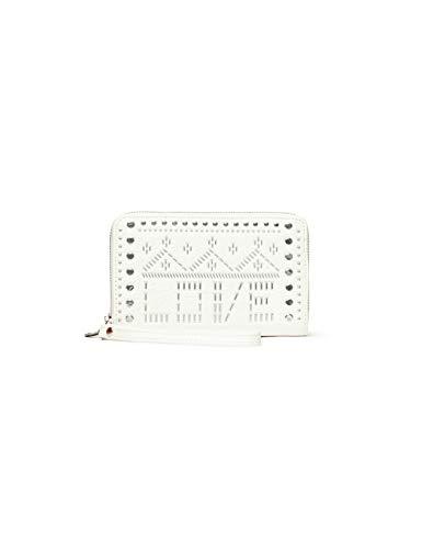 Desigual Mone_Azabache Mini Zip, Travel Accessory- Bi-Fold Wallet para Mujer, Blanco (Blanco), 2x9x15 cm (B x H x T)
