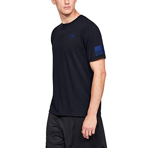 Under Armour Freedom Express T-Shirt, Black//Royal, Medium