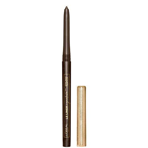 L'Oreal Paris Makeup Le Liner Signature Mechanical Eyeliner, Easy-Glide, Smudge Resistant, Bold Color, Long Lasting, Waterproof Eyeliner, Brown Denim, 0.011 oz., 1 count