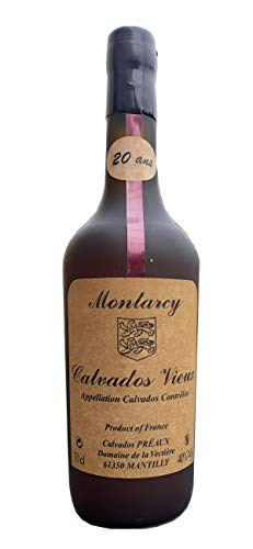 CALVADOS FERMIER VIEUX AOC MONTARCY MAISON PRÉAUX 20 ANS