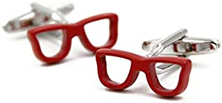 Chic Glasses French Shirts Cufflinks For Men Fashion Men's Jewelry