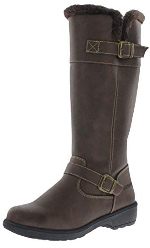 Weatherproof Womens Cold Weather Boots with Side Zipper (Bella) Waterproof Insulated Tall Winter Boots for Comfort, Durability - Keeps Feet Warm & Dry Brown