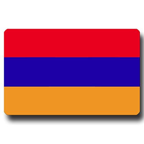 Kühlschrankmagnet Flagge Armenien - 85x55 mm - Metall Magnet mit Motiv Länderflagge