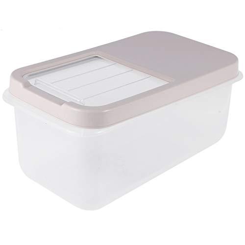 Cuasting Cubo de arroz de plástico 10 kg a prueba de humedad cocina transparente armario de arroz caja de almacenamiento cilindro hogar caja de alimentos
