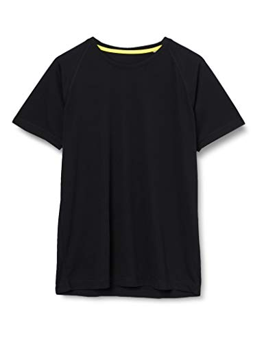 Stedman Apparel Active 140 Raglan T-shirt, Homme, Noir (Black Opal), XL