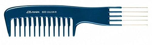Comair Poignée Peigne 600 avec dents en métal Blue Line