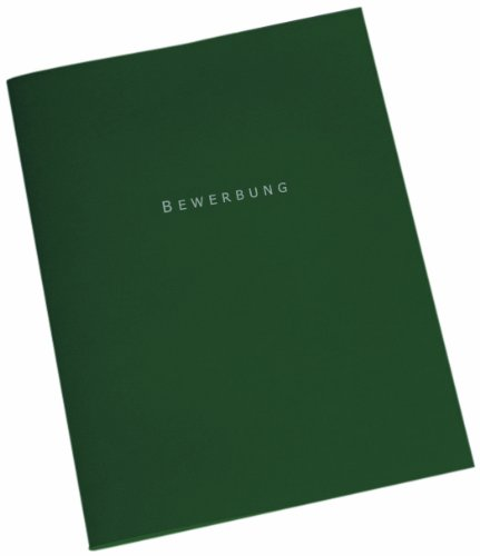 ELBA Bewerbungsmappe 10er Pack 3-teilig aus Karton mit 3 Klappen & 2 Klemmschienen in dunkelgrün  für maiximal 30 DIN A4-Blätter
