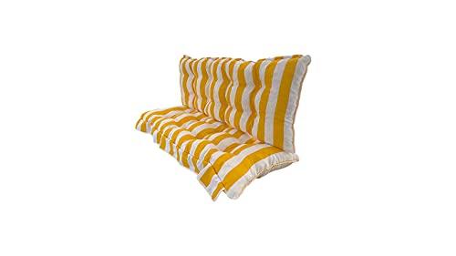 Cuscino fasciato truciolo per dondolo 135*55*12 cm trapuntat