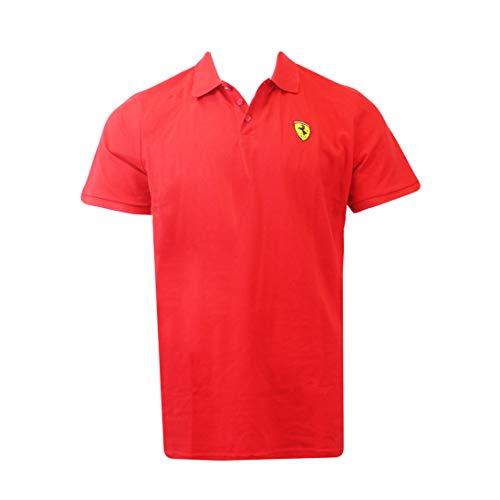 Ferrari SF Herren Poloshirt Camiseta, Rojo, L para Hombre