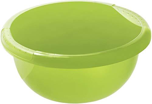 Rotho Daily Becken / Spülwanne 6l rund, Kunststoff (PP) BPA-frei, grün, 6l (34,0 x 34,0 x 13,5 cm)