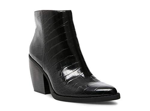 Madden Girl Women's KLICCK Ankle Boot, Black Embossed, 8.5 M US