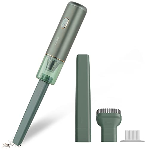 BASA Handstaubsauger Mini-Staubsauger 15000Pa, 450g Ultraleichte Staubsauger mit 50min Handsauger Kabellos (Doppel-Filtersystem, HEPA-Filter, wiederaufladbarer Li-Ionen-Batterie)