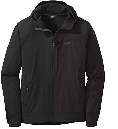 Outdoor Research Mens' Ferrosi Hooded Jacket, Black, XL
