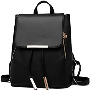 TY23 Fashion Backpacks for Women - Leather, Black