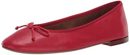 Aerosoles Zapatos de ballet para mujer, piel roja, 8,5 B (M)