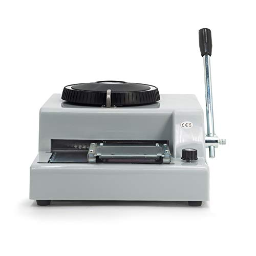 KIMTEM Manual Embossing Machine, Card Embosser Printer for PVC Credit Card/Gift Card Embossing